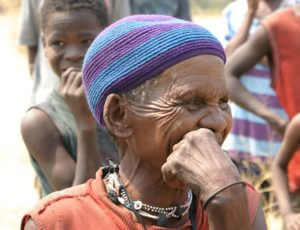 Khwe woman elder, Northern Namibia
