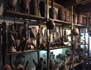 Zulu milk pails and an assortment of treasures